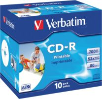 Verbatim CD-R 700MB 52X 10er JC Print