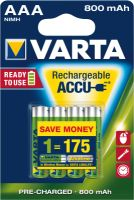 Varta 56703 Longlife Accu ready2use Micro 4er Blister