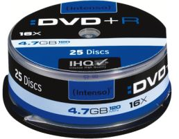 Intenso DVD+R 4,7GB 25er Spindel 16x