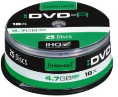 Intenso DVD-R 4,7GB 25er Spindel 16x
