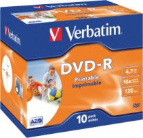 Verbatim DVD-R 4,7GB 16X 10er JC Printable
