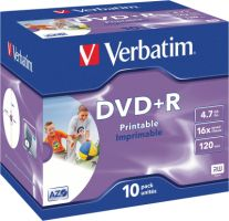 Verbatim DVD+R 4,7GB 16X 10er JC Printable