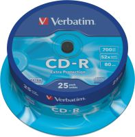 Verbatim CD-R 700MB 52X 25er SP Extra