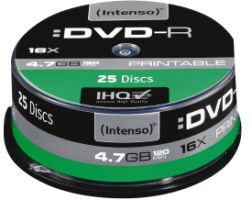 Intenso DVD-R 4,7GB 25er Spindel Printable