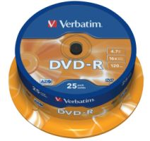 Verbatim DVD-R 4,7GB 16X 25er SP