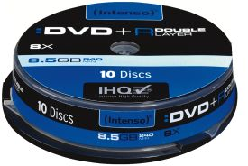 Intenso DVD+R 8,5GB Doublelayer 10er Spindel