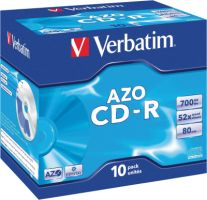 Verbatim CD-R 700MB 52X 10er JC Crystal