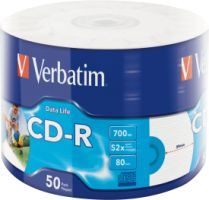 Verbatim CD-R 52X DataLife 700MB 50 Pack WRAP IJP