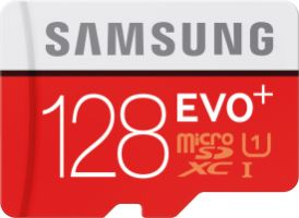 Samsung EVO+ 128GB microSDXC Card 80MB/s + Adapter