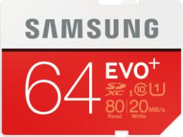 Samsung EVO+ 64GB SDXC Card 80MB/s