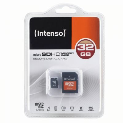 Intenso Micro SD Card 32GB Class 4 inkl. SD Adapter_0