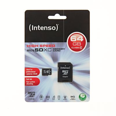 Intenso Micro SD Card 64GB Class 10 SDXC inkl. SD Adapter_0