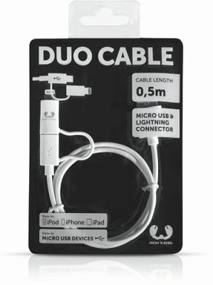 Fresh´N Rebel Duo Cable Apple Lightning + USB Micro - 50cm_0